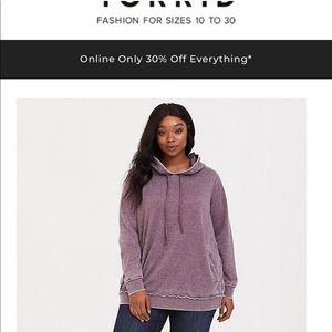 Torrid sweatshirt size 3 in plus size